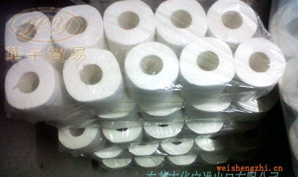 供应1000节大排档用单层生活用纸再生卷筒卫生纸
