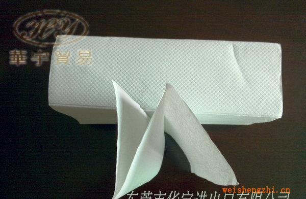 供应单层生活用纸250抽白色N折再生擦手纸