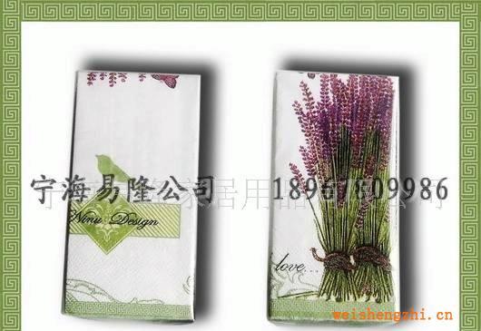 【现货特价供应】21*21食品级彩色印花餐巾纸(colorhankie)