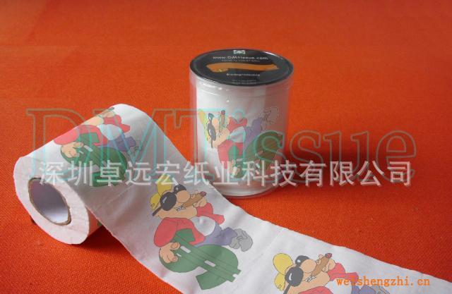 美金卡通印花卫生纸/印刷卫生纸