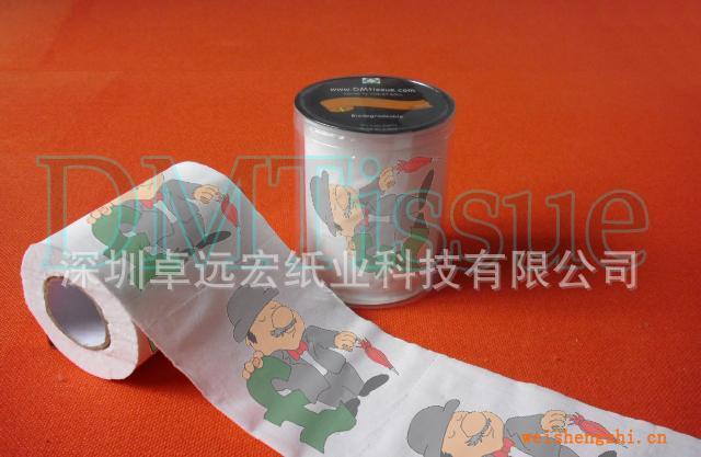 卡通英镑印花卫生纸/印刷卫生纸