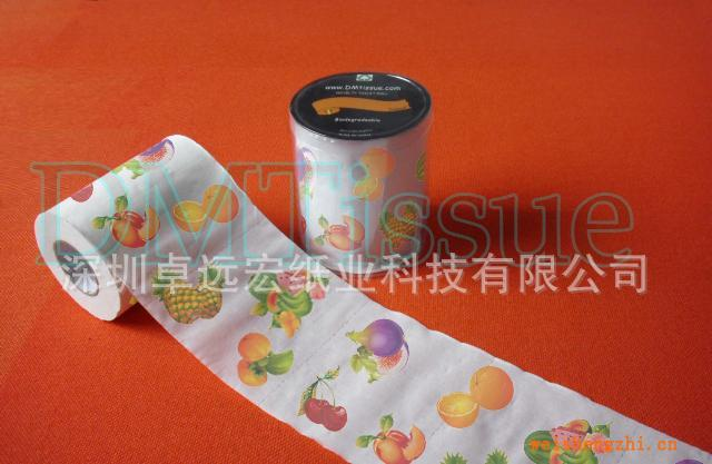 水果印刷卫生纸/卡通印花卫生纸