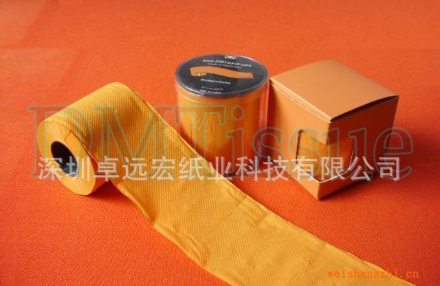 新颖彩色卫生纸/染色卫生纸/橙色卫生纸