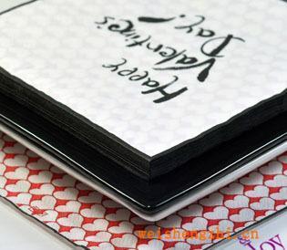 情人节礼品节日纸巾彩色印刷餐巾纸个性定制纸巾