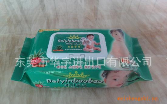 贝茵宝宝清香型80片装婴儿口手护肤柔润湿巾