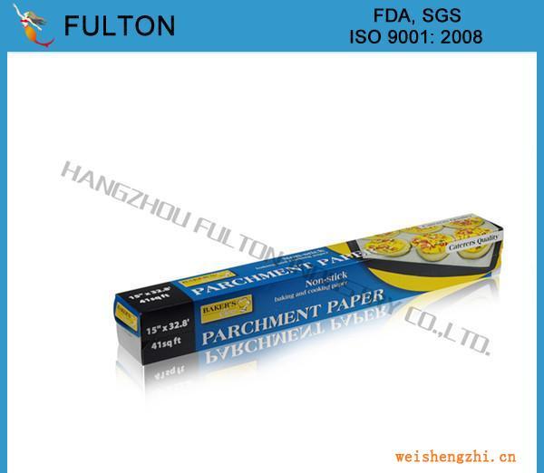 欧洲常规双面涂硅羊皮纸、烤箱纸小卷