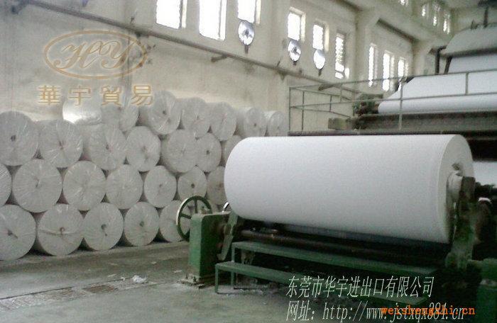 东莞擦手纸原纸,38.5g大轴半成品纸,白色再生擦手纸原纸