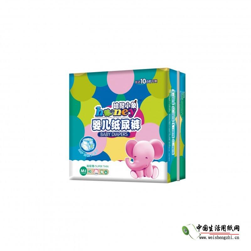 哈尼小象超级薄360°大环腰纸尿裤M-40片