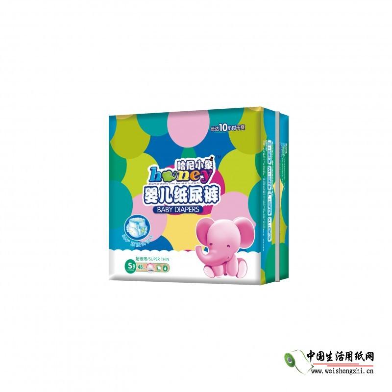 哈尼小象超级薄360°大环腰纸尿裤S-48片