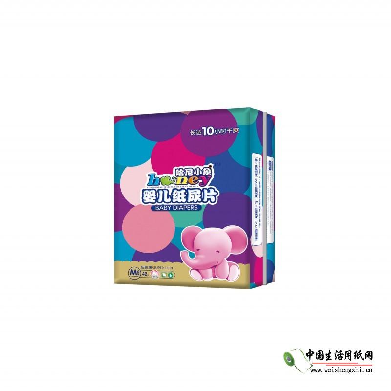 哈尼小象超级薄纸尿片M-42片