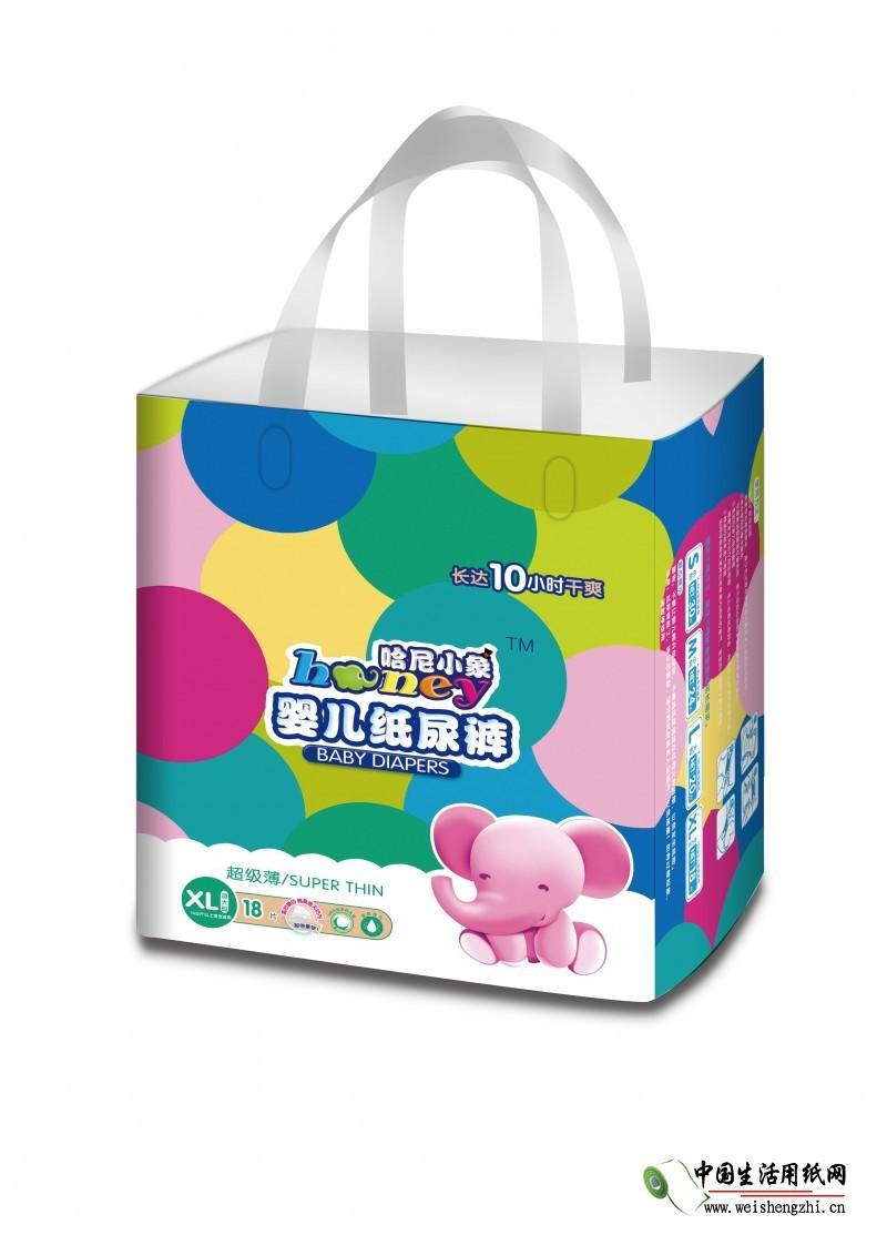哈尼小象纸尿裤XL码18片|江西卫生用品厂家