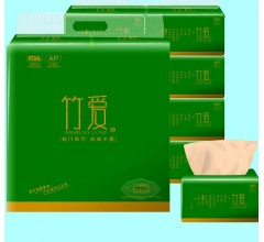 竹爱竹纤维竹浆本色纸厂家招经销商代理卫生纸