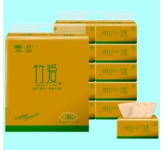 竹浆本色纸竹爱竹纤维纸巾厂家招卫生纸代理(高贵金10包装)