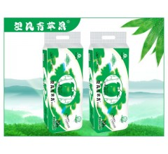 四川竹浆纸望风青苹果竹纤维纸巾10卷无芯实惠魅力装