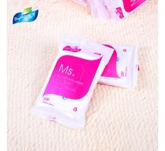 10片女士专用湿巾便携式湿巾河北湿纸巾生产厂家oem贴牌
