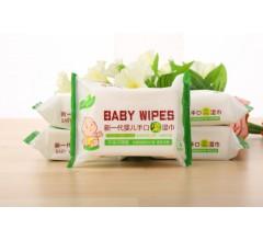 厂家25片婴儿宝宝植物纤维湿纸巾婴幼儿手口湿巾宝宝湿巾纸