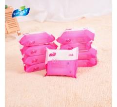 30片女性卫生湿巾纸便携式湿纸巾洁阴湿巾oem贴牌代加工厂