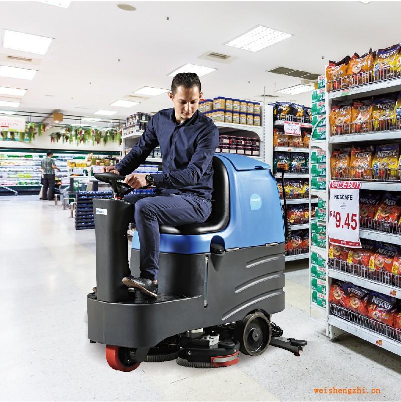 天津清洁设备 中型双刷驾驶式洗地机 R-QQ